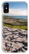 Limestone Landscape Of The Burren Ireland IPhone Case