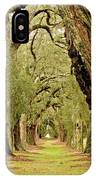 Line Of Oak Trees To Distance IPhone Case