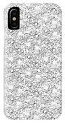 Linear Bulbs Pattern Whitesilver Black IPhone Case