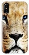 Lion Art - Blue Eyed King IPhone Case