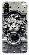Lion Head Door Knocker IPhone Case