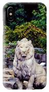 Lion In A Concrete Jungle IPhone Case
