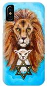 Lion Lies Down With A Lamb IPhone Case