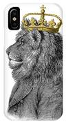 Lion The King Of The Jungle IPhone Case