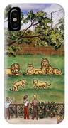 Lions At The Zoo IPhone Case