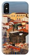 Lisbon Cityscape In Portugal At Sunset IPhone Case