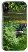 Listen To The Babbling Brook - Green Summer Zen IPhone Case