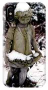 Little Girl Sculpture In The Snow IPhone Case