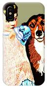 Little Girl With Hungry Mutt IPhone Case