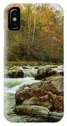 Little Pigeon River In The Greenbrier Section Of Smoky Mountains IPhone Case