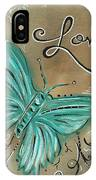 Live And Love Butterfly By Madart IPhone Case