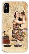 Live Music Pinup Singer Performing On Gig Guide IPhone Case