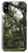 Live Oak And Spanis Moss Landscape IPhone Case