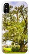 Live Oak And Spanish Moss 2 - Paint IPhone Case