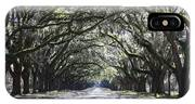 Live Oak Lane In Savannah IPhone Case