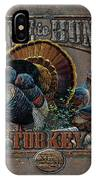 Live To Hunt Turkey IPhone Case