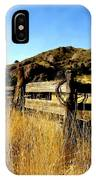 Livery Fence At Dripping Springs IPhone Case