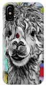 Llama And Lady In Splash IPhone Case