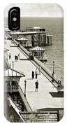 Llandudno Pier North Wales Uk IPhone Case