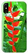 Lobster Claw Heliconia IPhone Case