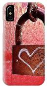 Lock/heart IPhone Case