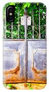 Locked Gate With Trees IPhone Case