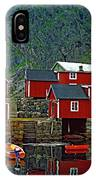 Lofoten Fishing Huts Oil IPhone Case