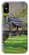 Log Cabin, Smoky Mountains, Tennessee IPhone Case