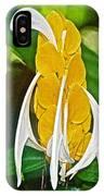 Lollipop Flower In Bourbon Resort Gardens Near Iguazu Falls National Park-brazil  IPhone Case