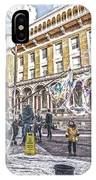 London Bubbles B IPhone Case