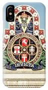 London Chatham And Dover Railway Crest With Invicta Motto Blackfriars Railway Station IPhone Case