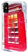 London Red Telephone Booth  IPhone Case