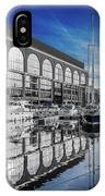 London. St. Katherine Dock. Reflections. IPhone Case