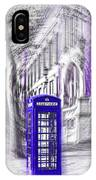 London Telephone Purple Blue IPhone Case