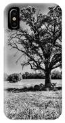 Lone Oak Tree In Black And White IPhone Case