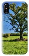 Lone Oak Tree In Wisconsin Field IPhone Case