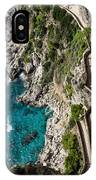 Long And Twisted Walk To The Shore - Azure Magic Of Capri IPhone Case