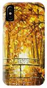 Long Before Winter - Palette Knife Oil Painting On Canvas By Leonid Afremov IPhone Case