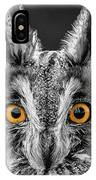 Long Eared Owl 2 IPhone Case