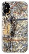 Long Eared Owl Resting IPhone Case