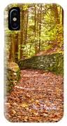 Long Fall Walk  IPhone Case