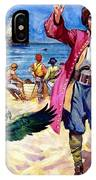 Long John Silver And His Parrot IPhone Case