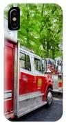 Long Line Of Fire Trucks IPhone Case