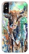 Longhorn Steer IPhone X Case