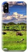 Longhorns At The Ranch IPhone Case