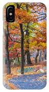 Looking Down A Trail On Bear Mountain New York IPhone Case