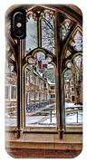 Looking Through An Arched Window At Princeton University At The Courtyard IPhone Case