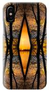 Looking Through The Trees Abstract Fine Art IPhone Case