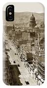 Looking Up Market Street From The Call Building With City Hall Circa 1900 IPhone Case