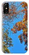 Looking Upward At Autumn's Trees  IPhone Case